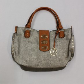 Girl Around Town Clasp Handbag - Silver