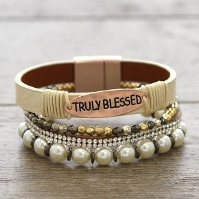 Walk By Faith Layered Bracelet in Ivory