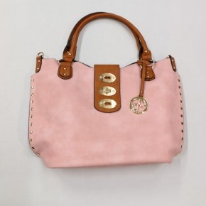 Girl Around Town Clasp Handbag - Baby Pink