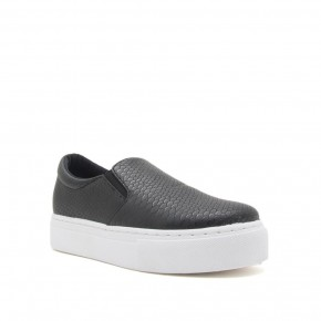 We Are Here Black Slip-On Shoes - Sizes 6-10