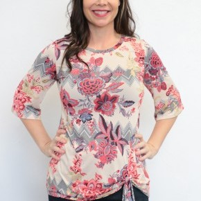 A Delicate Thought Floral Top - Sizes 4-10