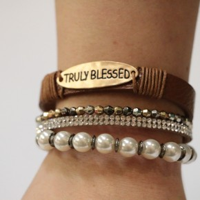 Truly Blessed Layered Bracelet	In Brown