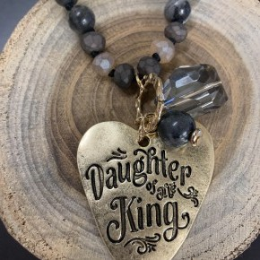 Daughter Of The King Beaded Necklace - Assorted Colors