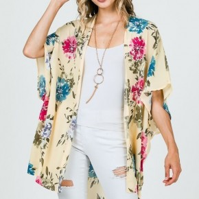 I Am Who I Say I Am Floral Kimono In Yellow - Sizes 12-20