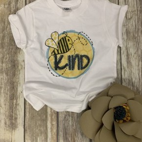 Bee Kind Kid's Graphic Tee In White - Sizes 2T-5T