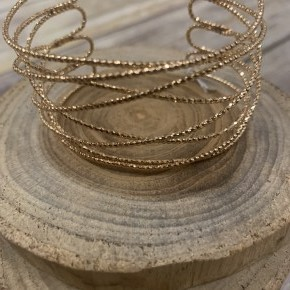 Soul On Fire Bangle Wrap Bracelet In Gold