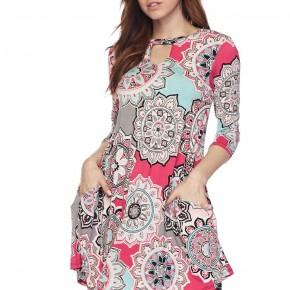 It's A New Day Fun Print Dress - Sizes 4-20