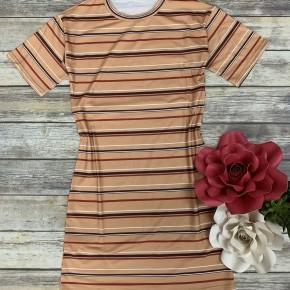 Earth Tones Striped Dress - Sizes 4-20