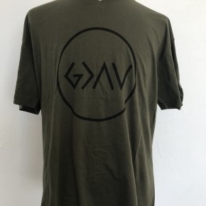 God Is Greater Than The Ups & Downs Graphic Tee in Olive ~ Sizes 12-18