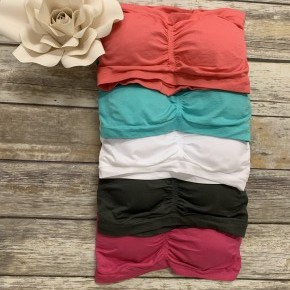 In Plain Sight Padded Bandeau In Curvy Size - Multiple Colors