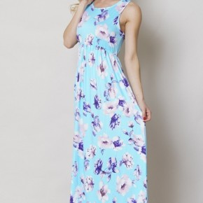 Springtime Flowers Sleeveless Maxi Dress - Sizes 4-20