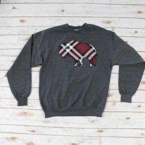 Blazing Buffalo Plaid Sweatshirt - Sizes 4-18