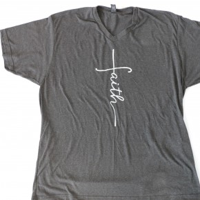 I Have Faith Graphic Tee in Charcoal - Sizes 4-20