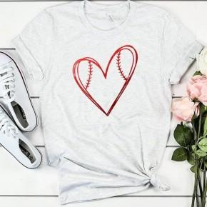 I Heart Baseball Graphic Tee - Sizes 4-12