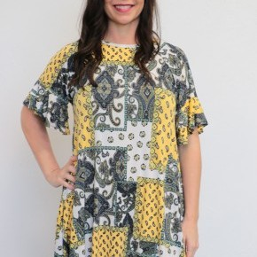 You Say It Best Paisley Dress - Sizes 4-20