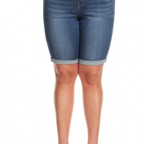 My Fear Doesn't Stand A Chance Bermuda Shorts In Denim - Sizes 12-20
