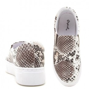 We Are Here Snake Skin Slip-On Shoes - Sizes 6-10