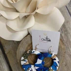 Chasing My Story Floral Hoop Earrings- Multiple Colors
