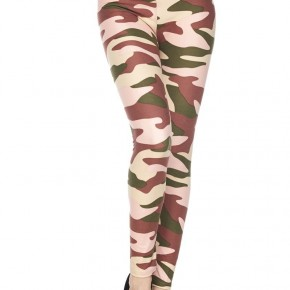 Get Your Attention Camo Print Leggings - Sizes 12-20