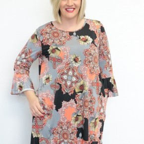 Nothing Compares Ruffled Floral Dress - Sizes 12-20