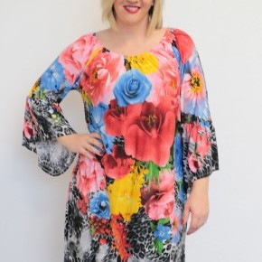 You Make Me Beautiful Leopard & Floral Dress - Sizes 4-20