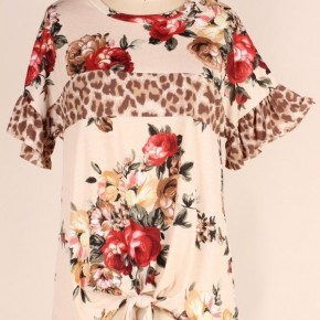 Bring It On Floral & Leopard Top - Sizes 4-20
