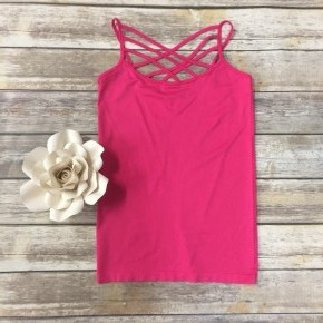 Spin It Up Lattice Cami in Hot Pink ~ Sizes 12-20