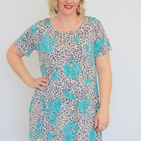 Perfect For This Floral & Leopard Dress - SIzes 12-20