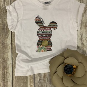Happy Easter Kid's Graphic Tee In White-Sizes 2T-6T