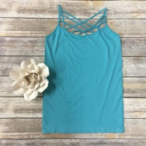 Spin It Up Lattice Cami in Ash Mint ~ Sizes 12-20