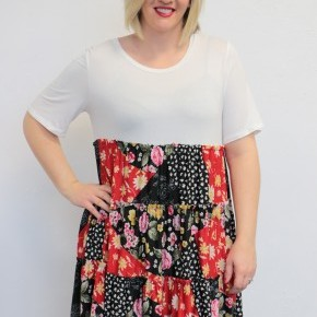 Don't Let Go Fun Print Dress in Ivory - Sizes 4-20
