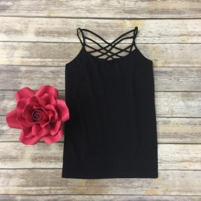 Spin It Up Lattice Cami in Black ~ Sizes 4-12