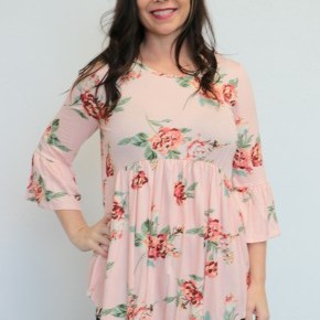 Time To Bloom Floral Babydoll Top - Sizes 4-12