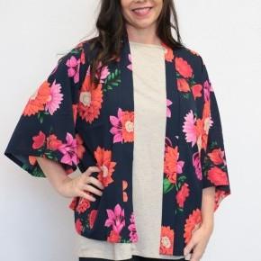 Rock the Runway Navy Floral Kimono - Sizes 4-20