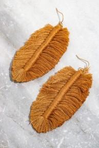 Love These Forever Leaf Fringe Earrings - Multiple Colors