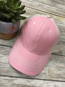 Baby Pink Mesh Back Hat