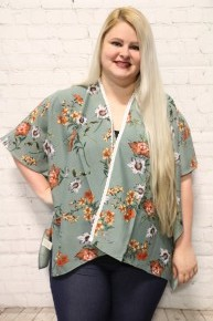 Stop Exaggerating Short Floral Kimono in Multiple Colors ~ One Size Fits Most