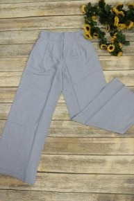 Not The Same Wide Leg Trousers In Light Denim