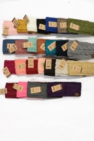 Survive the Winter C.C. Sherpa Lined Crochet Ear Warmer in Multiple Colors