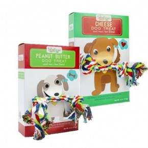 Cute Dog Treats with Toy Rope - Multiple Flavors