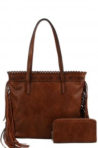 Now Is Forever 2 in 1 Side Tassel Tote Bag in Multiple Colors
