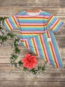 Rainbow Striped Dress - Sizes 4-20