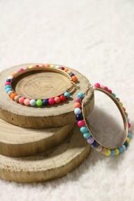 Party Time Multicolor Beaded Hoop Earrings
