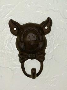 Cast Iron Pig Head Wall Hook
