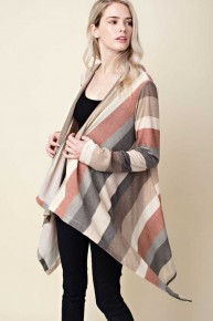 Precious Love Of God Multi Striped Long Sleeve Cardigan - Sizes 12-20