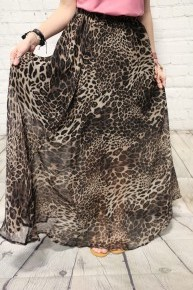 On The Hunt Leopard Maxi Skirt