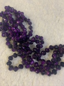 Point Of Perfection Beaded Necklace In Royalty Purple