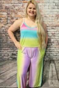 Feeling Loved Colorful Jumpsuit - Sizes 12-20