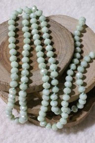 Point Of Perfection Beaded Necklace In Seafoam Surrender
