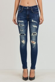 Walk This Way Distressed Jeans With Patch Detail- Sizes 7-15